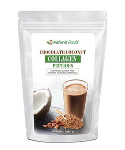 Chocolate Coconut Collagen Peptides Protein Powders Z Natural Foods 1 lb
