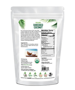 Coconut - Shredded, Raw Organic Nuts & Seeds Z Natural Foods