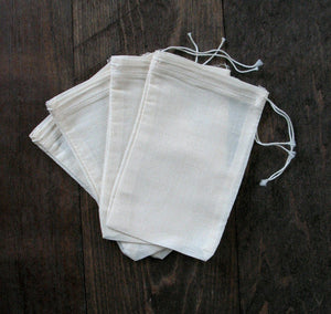Cotton Muslin Bags - Large Supplies Z Natural Foods
