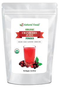 Cranberry Juice Powder - Organic Fruit Powders Z Natural Foods