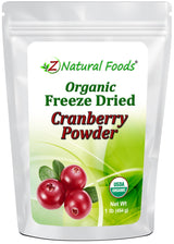 Cranberry Powder - Organic Freeze Dried Fruit Powders Z Natural Foods