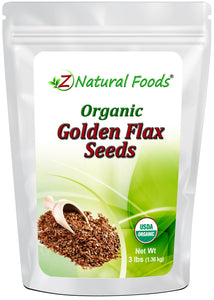 Golden Flax Seeds - Organic Nuts & Seeds Z Natural Foods