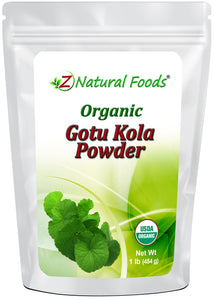 Gotu Kola Powder - Organic Vegetable, Leaf & Grass Powders Z Natural Foods