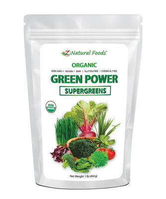Green Power - Organic SuperGreens Blend Vegetable, Leaf & Grass Powders Z Natural Foods