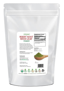 Horny Goat Weed Leaf Powder - Organic Herb & Root Powders Z Natural Foods
