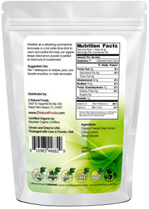 Lemon Powder - Organic Freeze Dried Fruit Powders Z Natural Foods