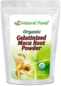 Maca Root Gelatinized Powder - Organic Herb & Root Powders Z Natural Foods