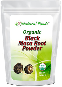Maca Root Powder (Black) - Organic Raw Herb & Root Powders Z Natural Foods