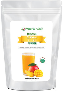 Mango Juice Powder - Organic Fruit Powders Z Natural Foods