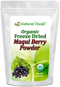 Maqui Berry Powder - Organic Freeze Dried Fruit Powders Z Natural Foods