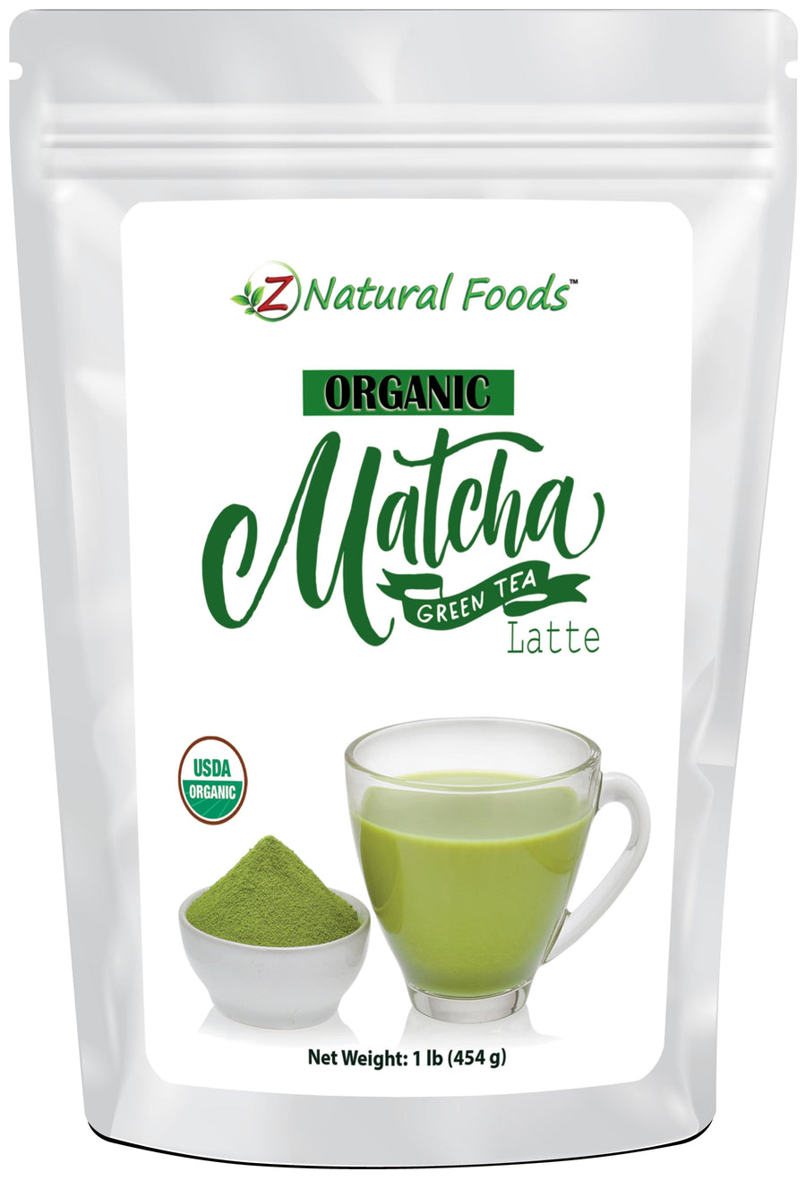 Matcha Green Tea Latte - Organic Organic Tea Z Natural Foods