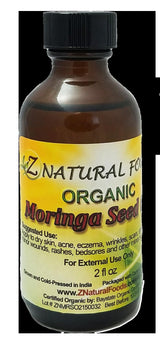 Moringa Seed Oil - Organic Organic Oils Z Natural Foods