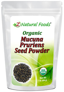 Mucuna Pruriens Seed Powder - Organic Herb & Root Powders Z Natural Foods