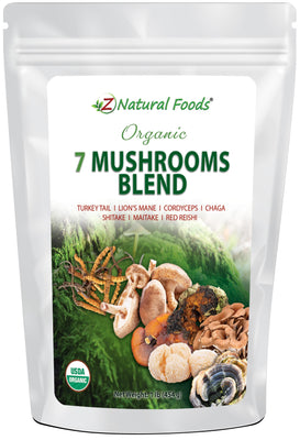 Organic 7 Mushrooms Blend Mushroom Powders Z Natural Foods