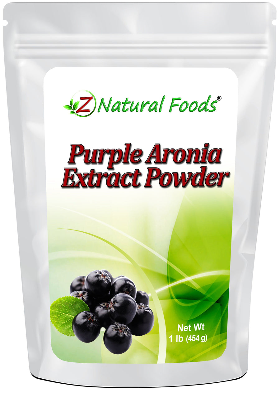 Purple Aronia Extract Powder Fruit Powders Z Natural Foods