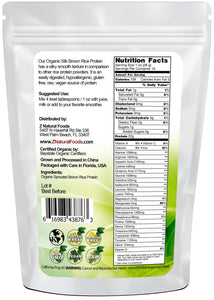 Silk Brown Rice Protein Powder - Organic Proteins & Collagens Z Natural Foods