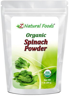 Spinach Powder - Organic Vegetable, Leaf & Grass Powders Z Natural Foods