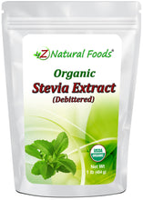 Stevia Extract Powder (Debittered) - Organic Sweeteners Z Natural Foods