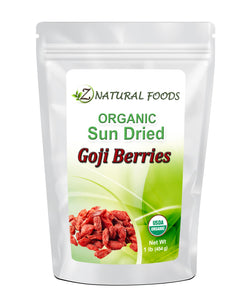 Sun Dried Goji Berries - Organic Dried Fruit & Berries Z Natural Foods 1 lb