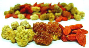 Sun Dried Goji, Golden, Mulberry Mix - Organic Dried Fruit & Berries Z Natural Foods
