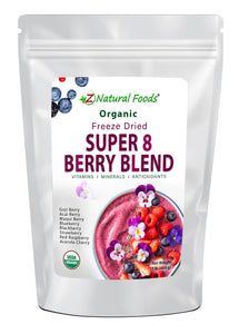 Super 8 Berry Blend - Organic Freeze Dried Fruit Powders Z Natural Foods