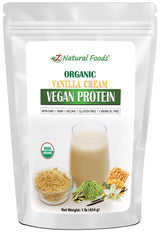 Vanilla Cream Vegan Protein - Organic Proteins & Collagens Z Natural Foods