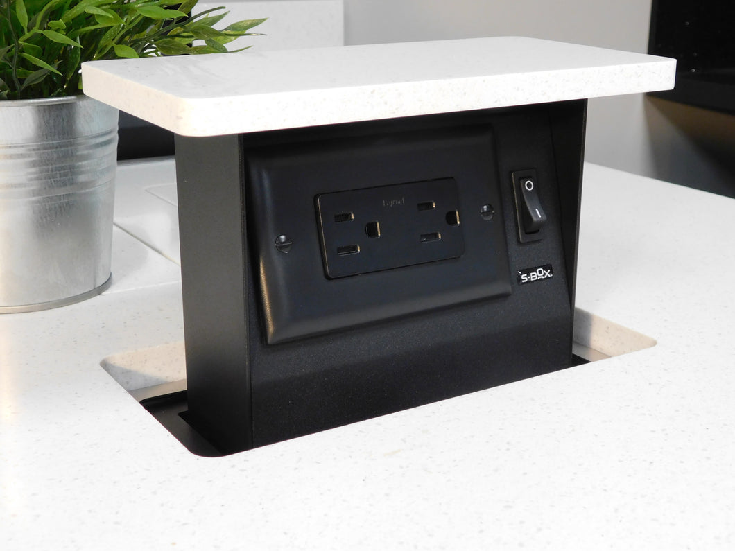 S-Box™ Mini CT2 - 15a - 2 Outlet - Custom Top - SBOXMINI-CT2-15a-SSTRBL