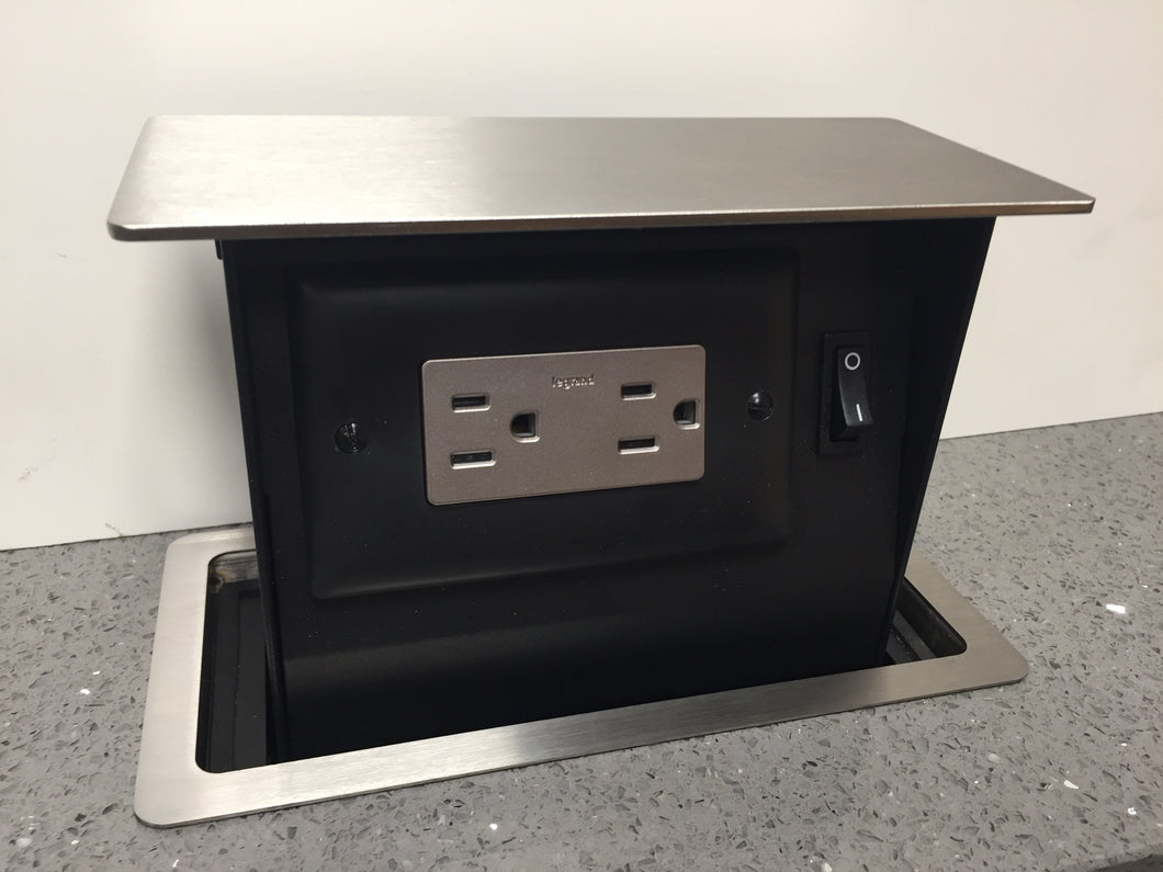 S-Box™ Mini TR - 15a - 2 Outlet - Stainless Top - SBOXMINI-TR2