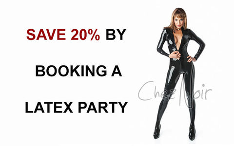 book a latex party