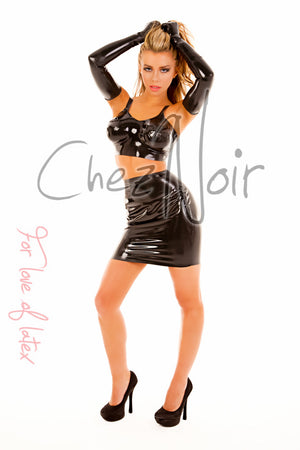 Heavy Weight Latex Mini Skirt | Chez Noir | Latex Sex Toys, Fetish Wear and More!