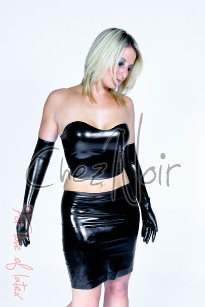 Latex Tube Top & Skirt