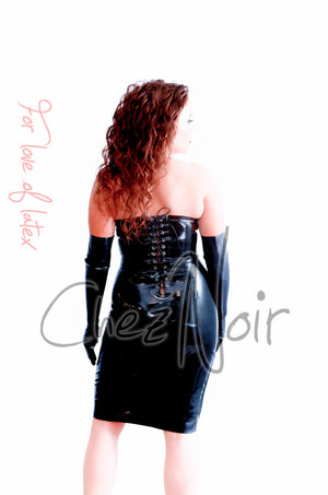 Latex Corset Dress | Chez Noir | Latex Sex Toys, Fetish Wear and More!