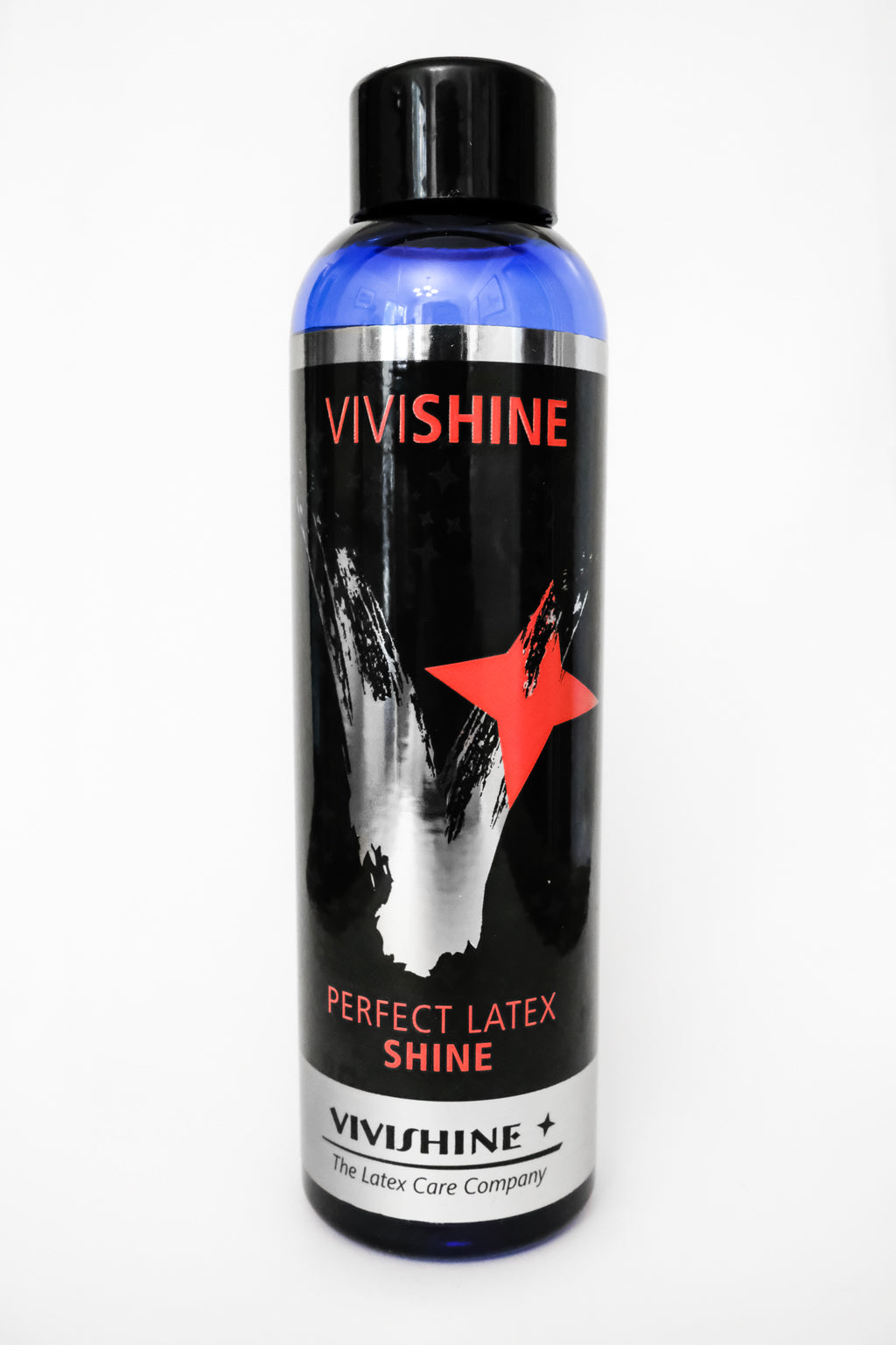 A bottle of ViviShine, a latex clothing cleaning product.