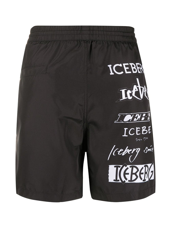 Iceberg Black Swim Shorts