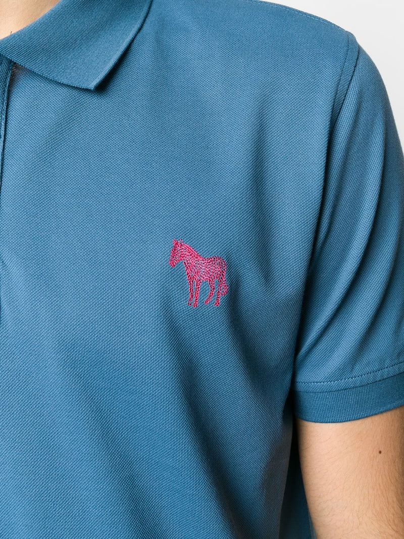 Paul Smith Zebra Blue Polo Shirt