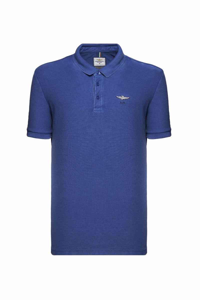 Aeronautica Royal Blue Classic Polo Shirt