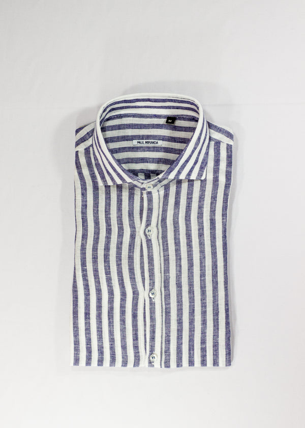 Paul Miranda Striped Linen Shirt