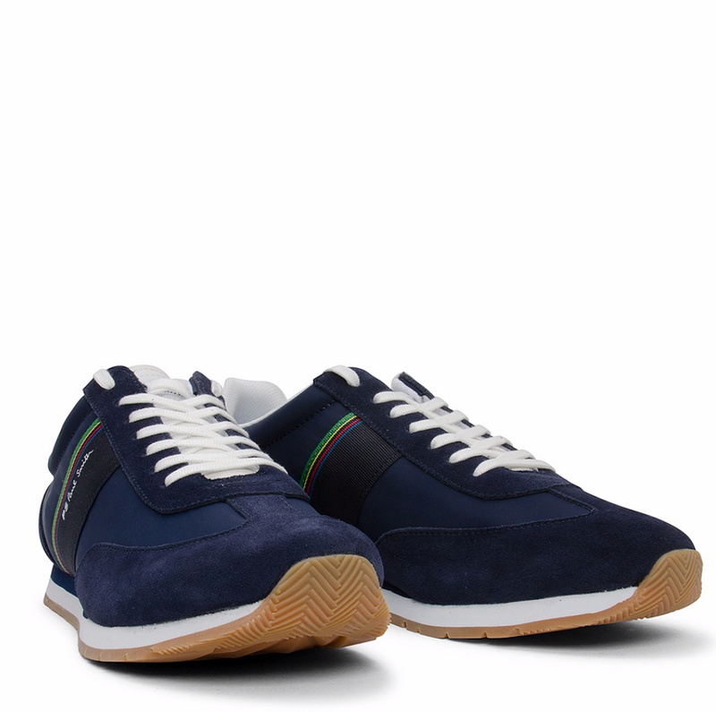 Paul Smith Navy Lace-Up Trainers