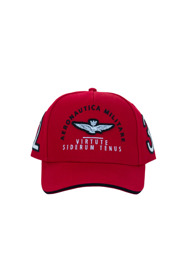 Aeronautica Red Baseball Cap