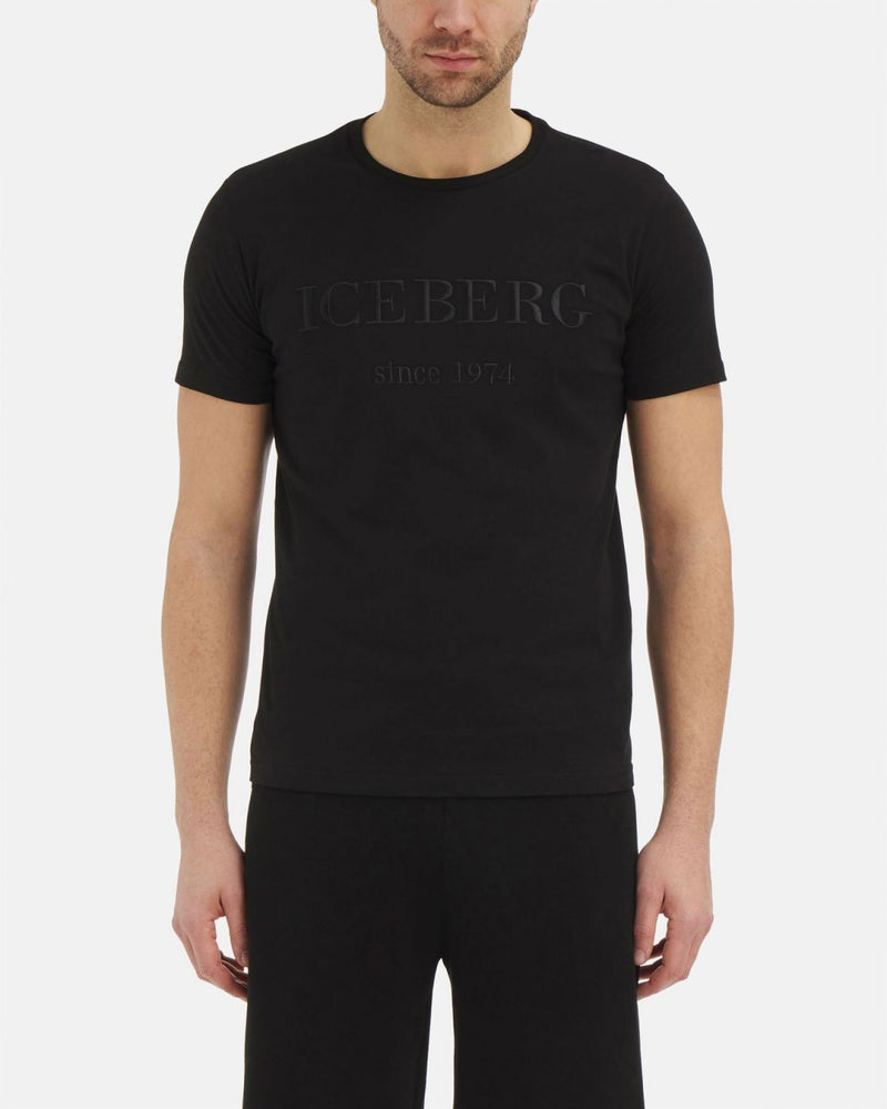 Iceberg Black T-Shirt with Iconic Logo