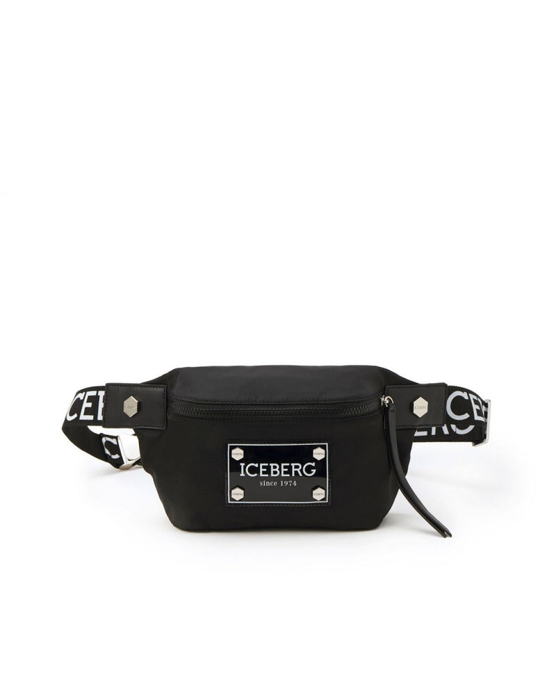 Iceberg Black Belt Bag