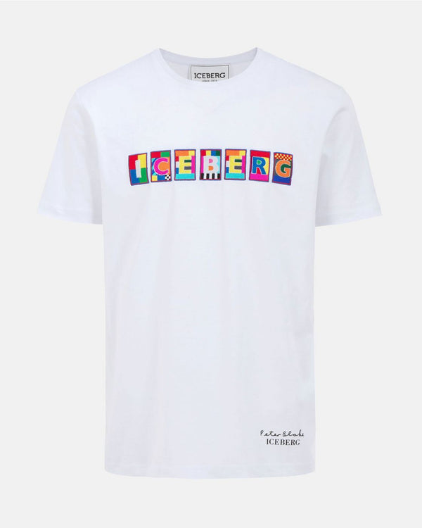 Iceberg White T-shirt with Peter Blake graphic
