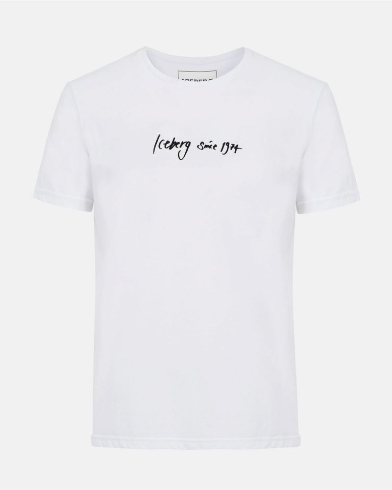 Icecberg T-shirt With Handwritten Logo