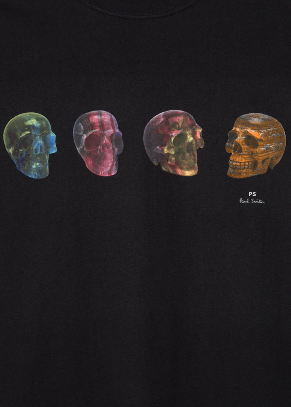Paul Smith 'Precious Skulls' Black T-Shirt