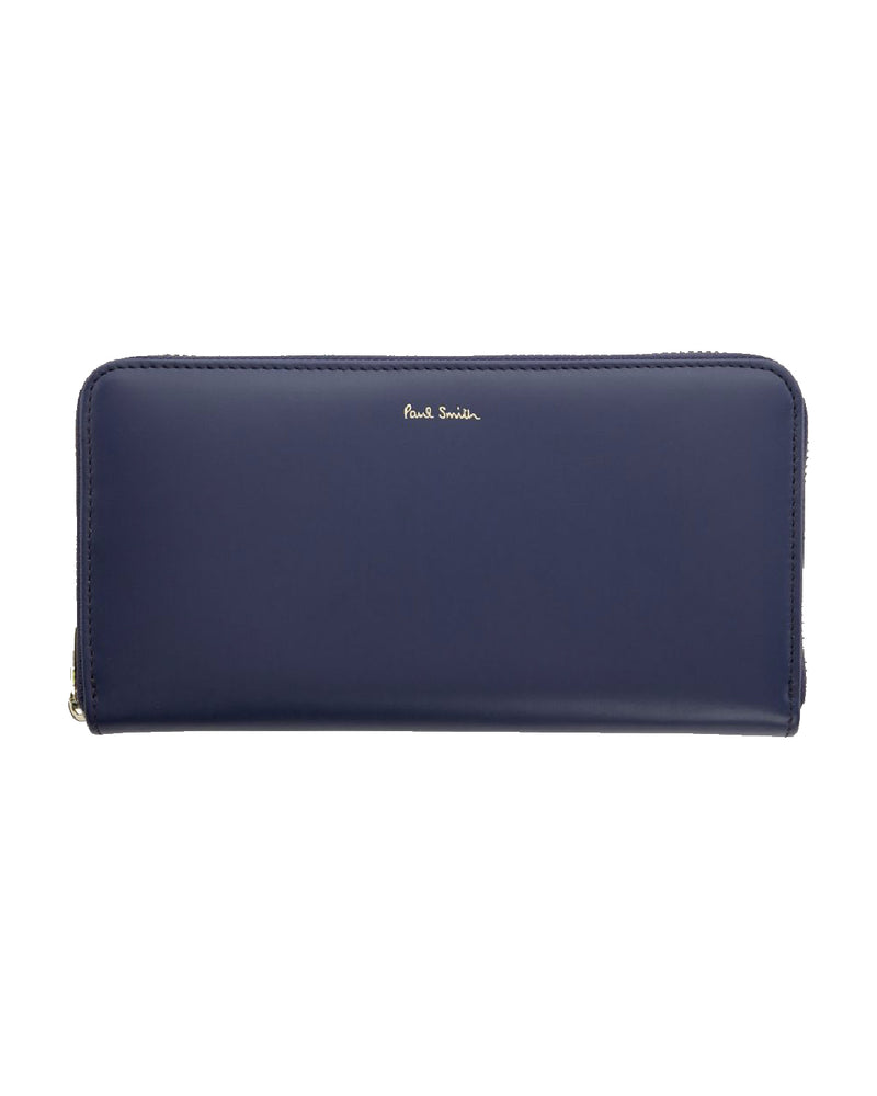 Paul Smith Blue Large Zip Wallet