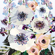 Load image into Gallery viewer, Lilac Anemone Bouquet | Collage Floral Art Print