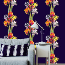 Load image into Gallery viewer, Tulip Illustration Wallpaper- original wallpaper designs by J. D. Pepp
