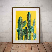 Load image into Gallery viewer, Yellow Cactus Poster ǀ Statement Wall Art