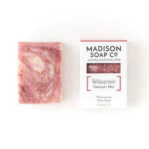 "Organic Soap ""Wisconsin"" Oatmeal + Mint"