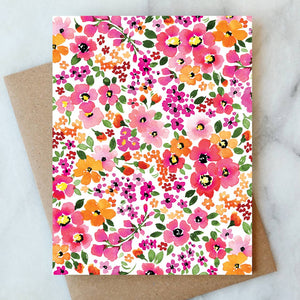 Ditzy Floral Blank Card